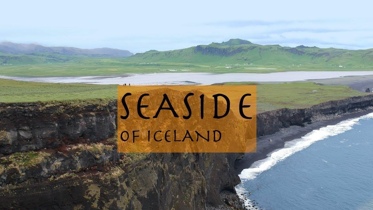 seaside of iceland by drone. I pobřeží islandu DRONEM.