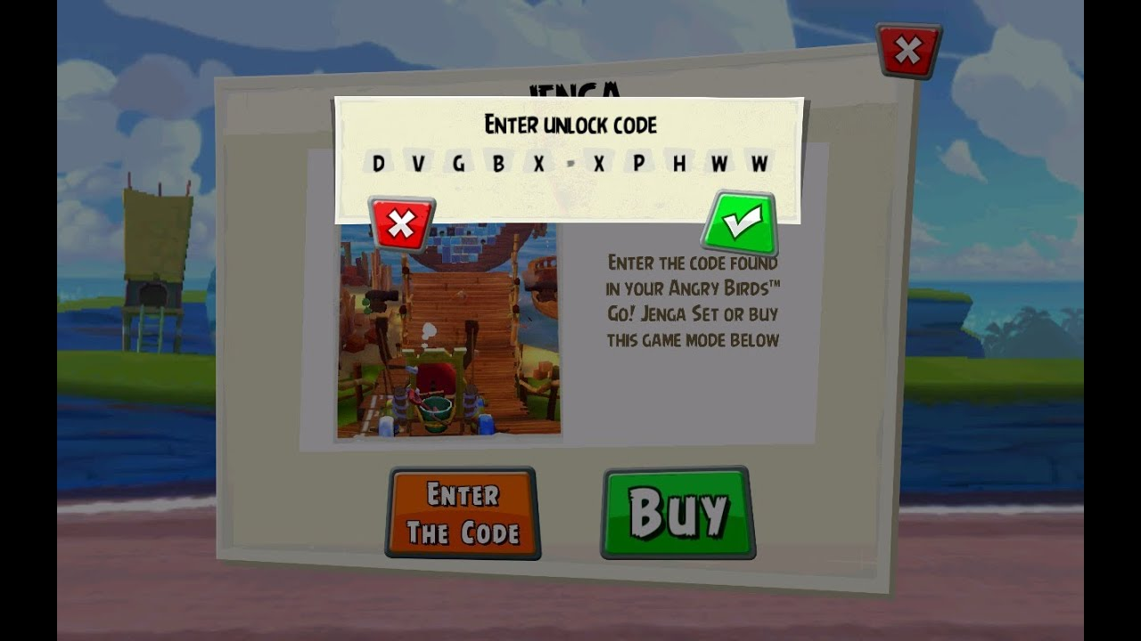 Angry Birds GO! Jenga Code to Unlock App Content - the Jenga ...