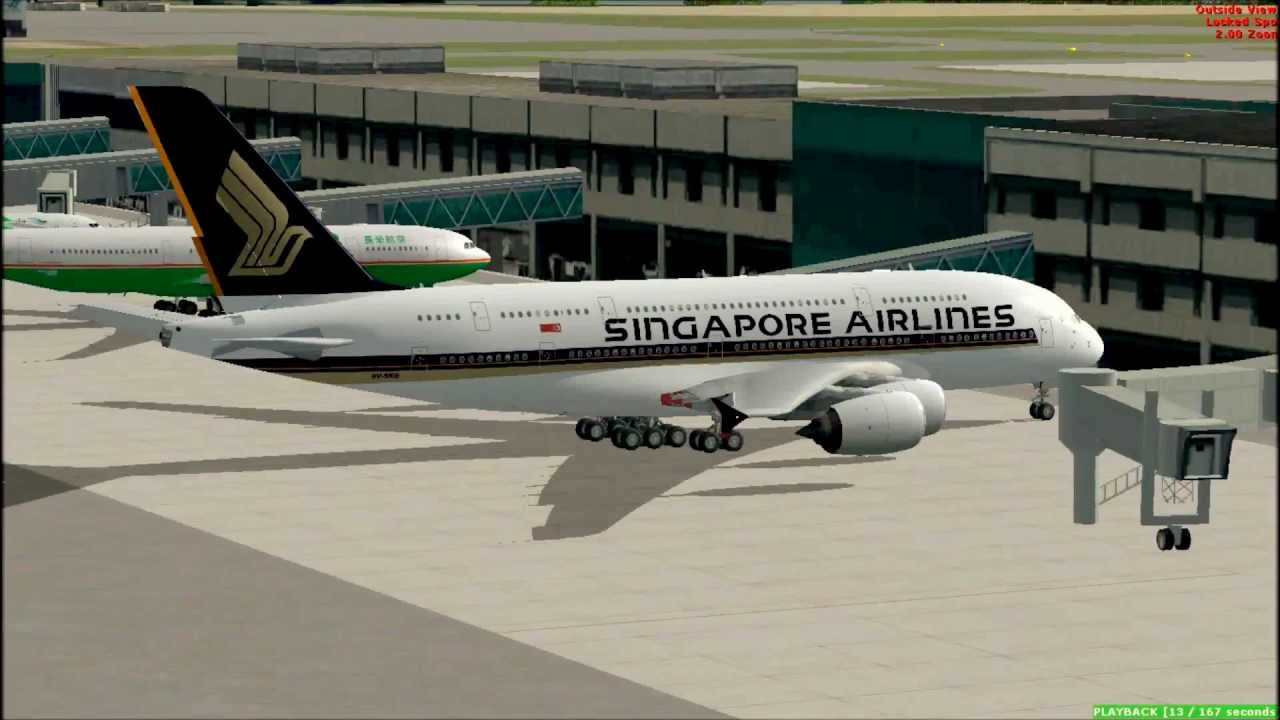Fsx singapore airlines airbus a380 frankfurt airport for Singapore airlines sito italiano