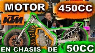 MOTO CON MOTOR KTM 450 EN CHASIS DE 50