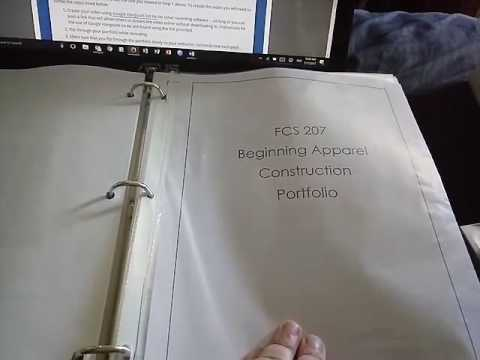 Beginning Apparel Construction Portfolio