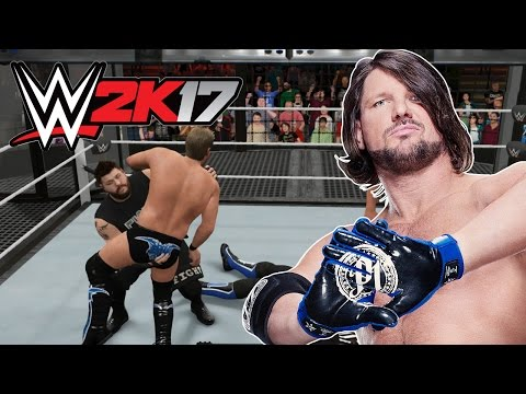 WWE 2K17 - AJ Styles Can't Be Stopped [6-Man Elimination Chamber] - PS4