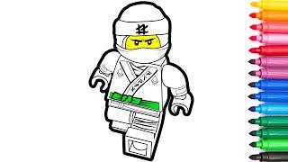 LEGO Ninjago. How to draw Lloyd. Coloring and drawing for kids. Раскраски для детей.