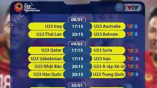 Lịch thi đấu và trực tiếp VCK U23 châu Á hôm nay