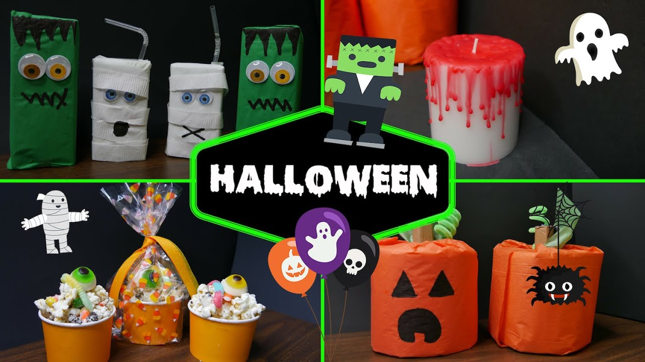 4 ideas para halloween diy parte 2 mi cocina r pida youtube - Ideas decoracion halloween fiesta ...