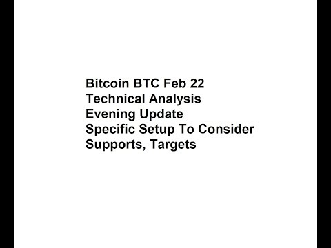 Bitcoin BTC Feb 22 - Technical Analysis Evening Update - Specific Setup To Consider