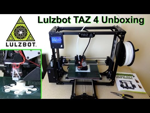 lulzbot-taz4-3d-printer-unboxing,-setup-&-first-prints-|-james-bruton