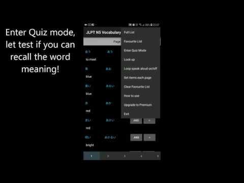 JLPT N5, N4, N3, N2, N1 Vocabulary Trainer - Apps on Google Play
