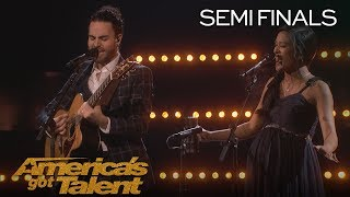 """Us The Duo: Adorable Couple Performs Original Song, """"Broke"""" - America's Got Talent 2018"""