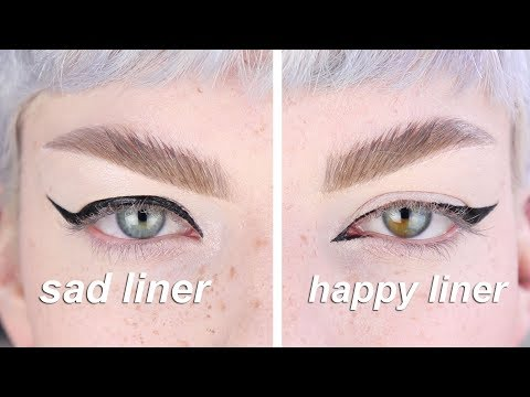 how i do my eyeliner  ( 汀掳 蜏蕱 汀掳)  *hooded eyes*