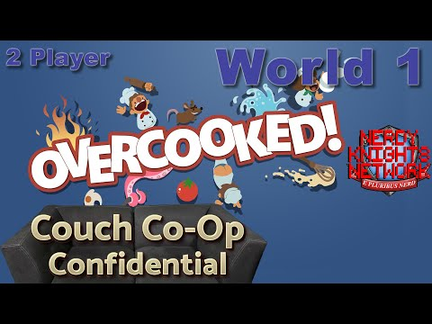 Overcooked! - World 1 - 2 Player Campaign - Couch Co-op Confidential