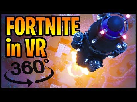 Fortnite Rocket Launch in 360° VR (360 video)