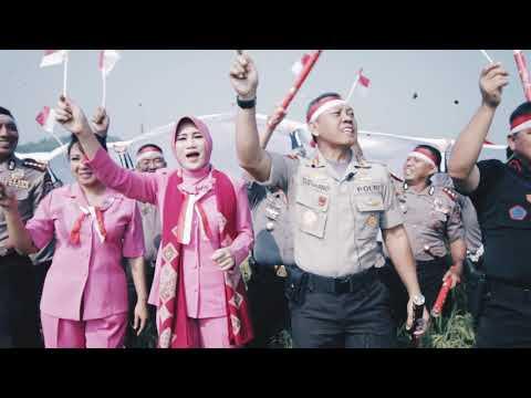 Polda Lampung Buat Video Ucapan HUT Kemerdekaan RI ke 72 Dengan Meriah