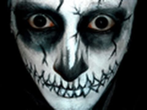 Maquillage halloween squelette youtube - Image maquillage halloween ...