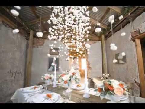 diy rustic wedding decor ideas - YouTube