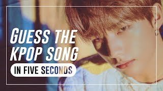 GUESS THE KPOP SONG IN 5 SECONDS