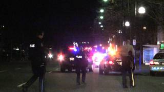 SURREY RCMP POLICE CHASE MALE ON KING GEORGE HWY JAN 23 2012 BY BCNEWSVIDEO