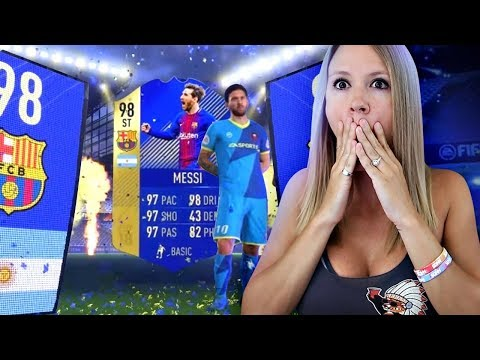 WHOA!! TOTS 98 MESSI IN A PACK!! FIFA 18 ULTIMATE TEAM