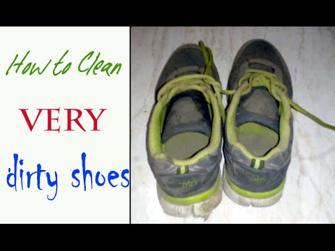 How to Clean your very dirty shoes with in 15 min ?