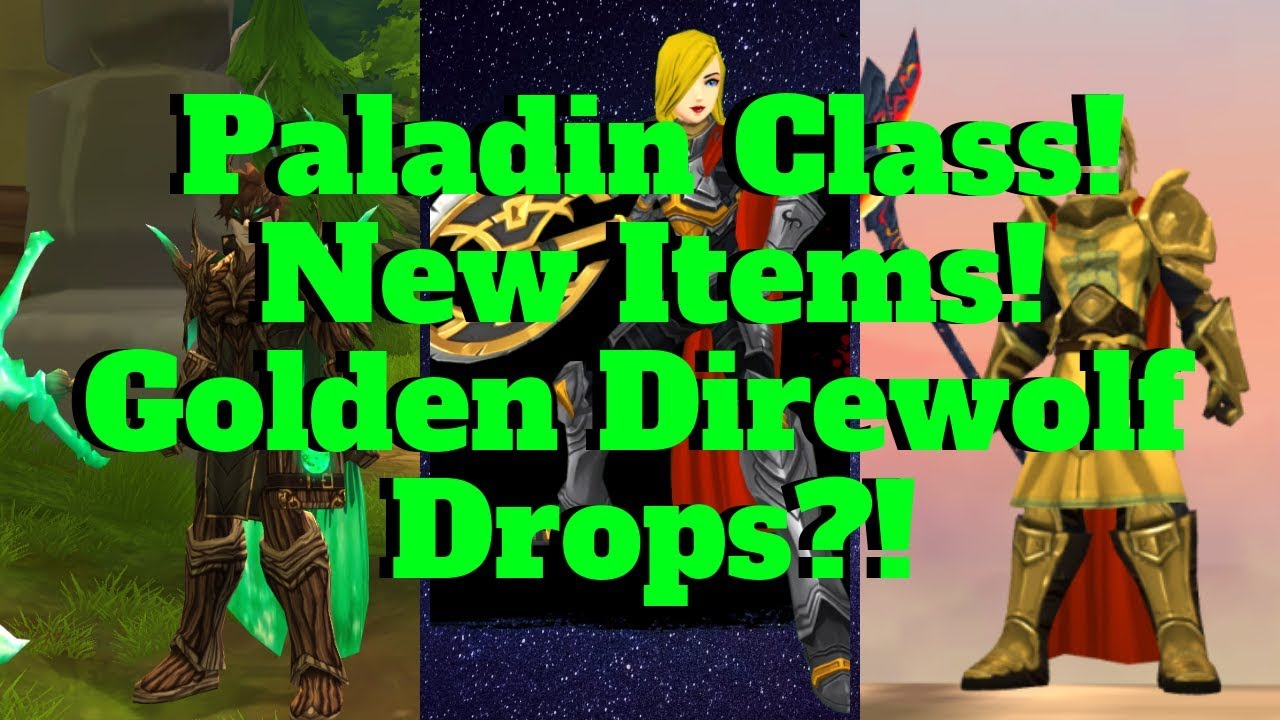 AQ3D Paladin Class For EVERYONE! New Items, Pets And Morph! AdventureQuest  3D