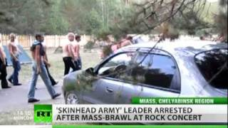 Russian 'Skinhead Army' attacks rock fest