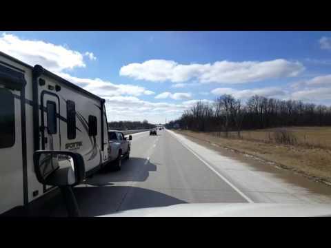 Bigrigtravels Live! - Fort Wayne to Franklin, Indiana - Interstate 69 - January 30, 2017
