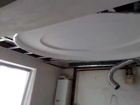 видео: гипсокартонный потолок 1. Двойной эллипс с подсветкой. gypsum ceiling, double ellipse