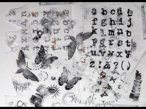 Making Your Own Cling Stamp Tissue for Art Journal Backgrounds and Collage