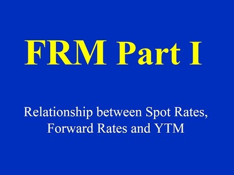 FRM Part I-Relationship between Spot Rates, Forward Rates and YTM