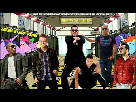Funny Mashup - Psy VS Lucenzo VS Alex Ferrari VS Tacabro VS Michel Telo  (Leeam Starr Remix)