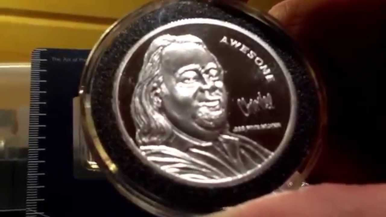 chumlee autograph silver coin 5 oz perry 39 s victory 2 5. Black Bedroom Furniture Sets. Home Design Ideas