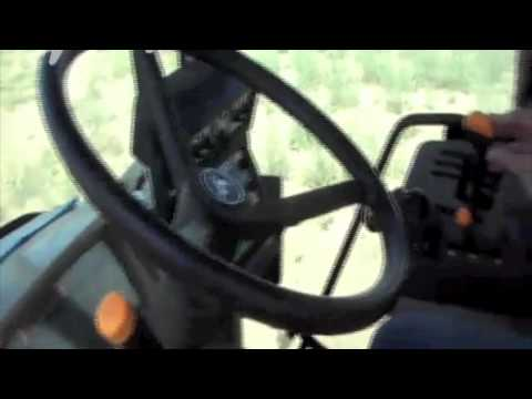 JD 6920 equipped with SBGuidance RTK-GPS automatic steering, Voskresensk Russia