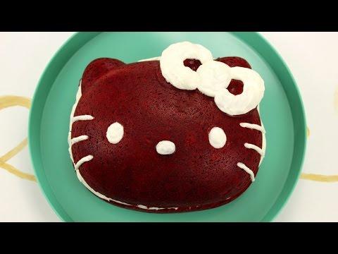 How to Make Hello Kitty Red Velvet Cake!