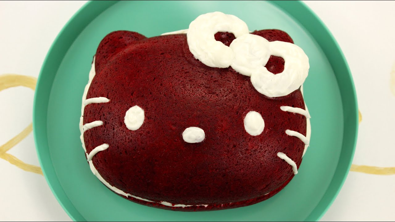 How to Make Hello Kitty Red Velvet Cake YouTube