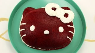 How To Make Hello Kitty Red Velvet Cake!