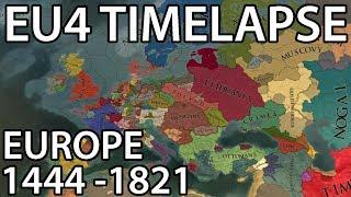 EU4 Timelapse - (Europe 1444-1821)