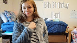 🥳 18th Birthday Haul 🥳 The North Face, American Eagle, Adidas, Polaroid, and more!
