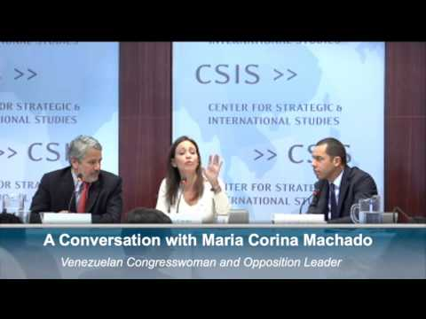 A Conversation with Maria Corina Machado, Venezuelan Congresswoman and Opposition Leader