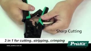 Pro'sKit CP-376TR 4P/6P/8P Telecom Crimping Tool