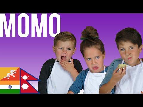 American kids try Momo popular in Nepal, Bhutan, & India
