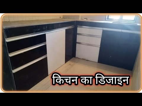 L Shaped Modular Kitchen Design, Acrylic Finish | modular kitchen colour combination