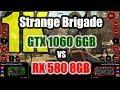 Strange Brigade DX12 (1K) - GeForce GTX 1060 6GB VS Radeon RX 580 8GB