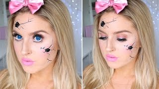 Cracked Broken Doll Tutorial ♡ Pretty & Easy Halloween Makeup!