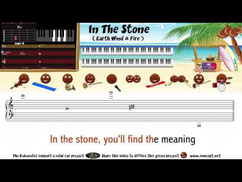 How to play : In The Stone (Earth Wind & Fire) - Tutorial / Karaoke / Chords / Score / Cover