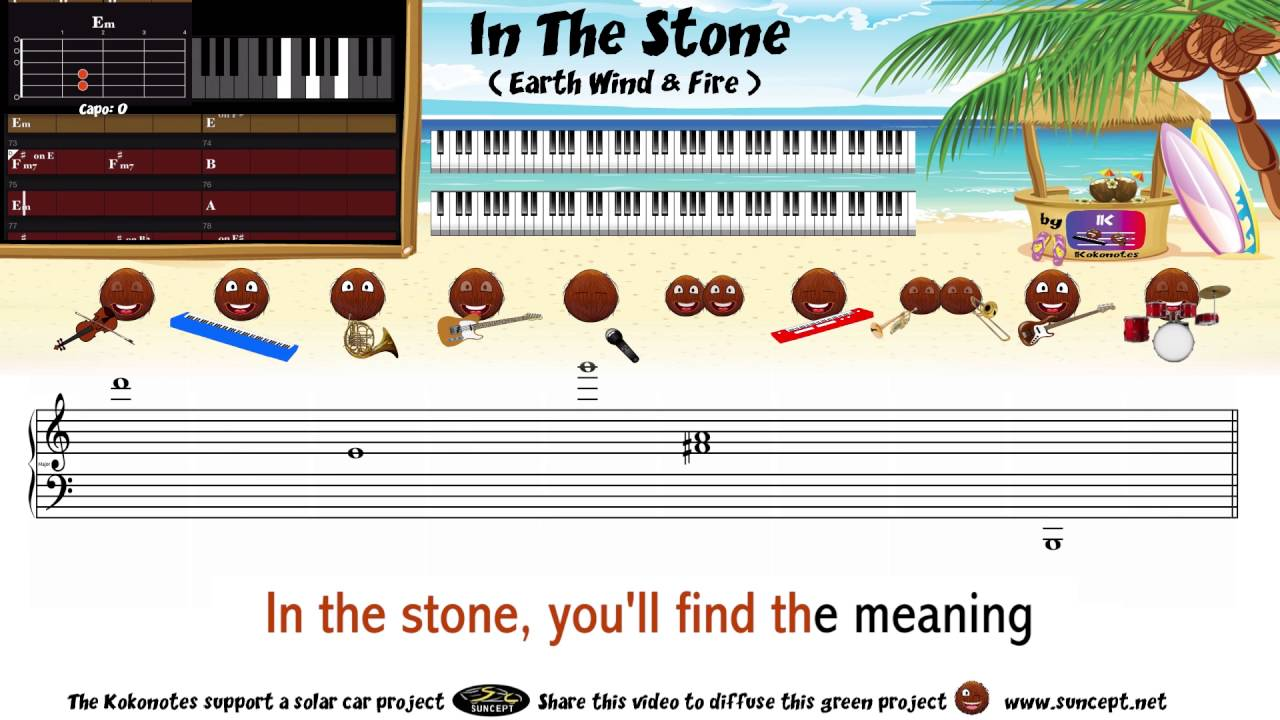 How to play in the stone earth wind fire tutorial how to play in the stone earth wind fire tutorial karaoke chords score cover hexwebz Gallery