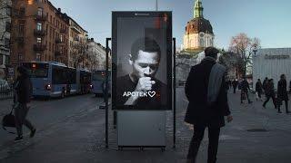 السويد: رجل على لوحة إعلانية