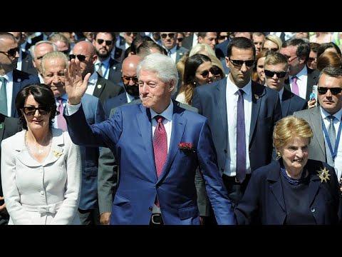 Kosova'da NATO operasyonunun 20'inci yıl dönümünü törenlerine Bill Clinton da katıldı