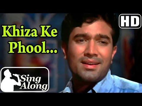 Khiza Ke Phool (HD) - Kishore Kumar Superhit Old Hindi Karaoke Song - Do Raaste - Rajesh Khanna