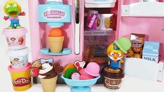 키즈쿡 플레이도우 아이스크림 냉장고 장난감 뽀로로 와 …