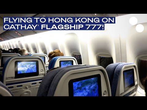 CATHAY PACIFIC BOEING 777 300ER ECONOMY CLASS CX261 HKG-CDG